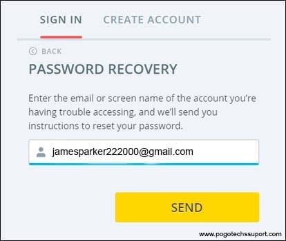 pogo password recovery